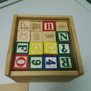 Vintage Children's Wooden Blocks - Set of 48